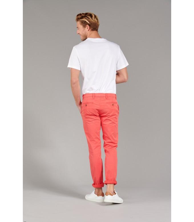 FLASH - Pantalon chino slim, rouge