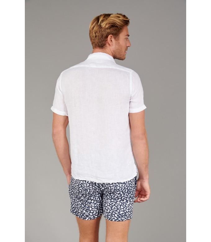 MOOREA - Chemise manches courtes unie, blanche