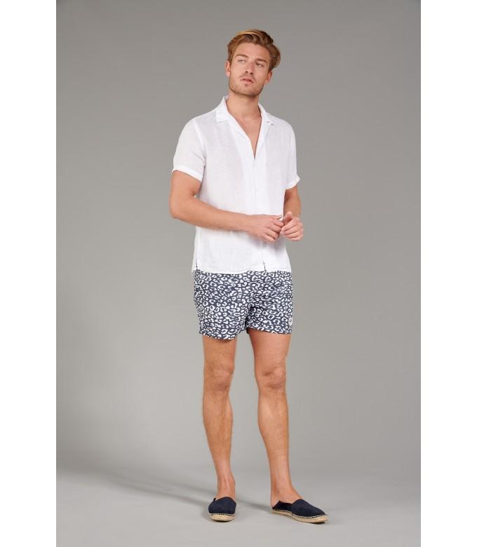 MOOREA - Plain short sleeves shirt, white
