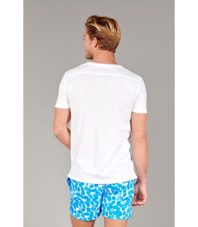 NECK - Cotton V-neck tee-shirt, white