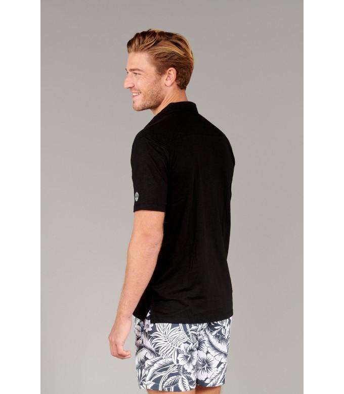 WESTON - Polo jersey en coton, noir