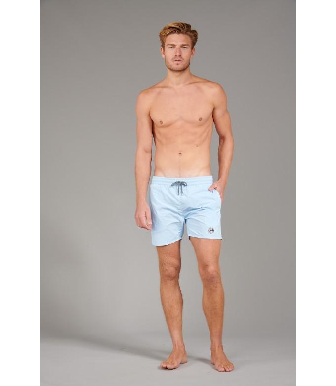 SOFT - Plain color slim fit swimshorts, sky blue