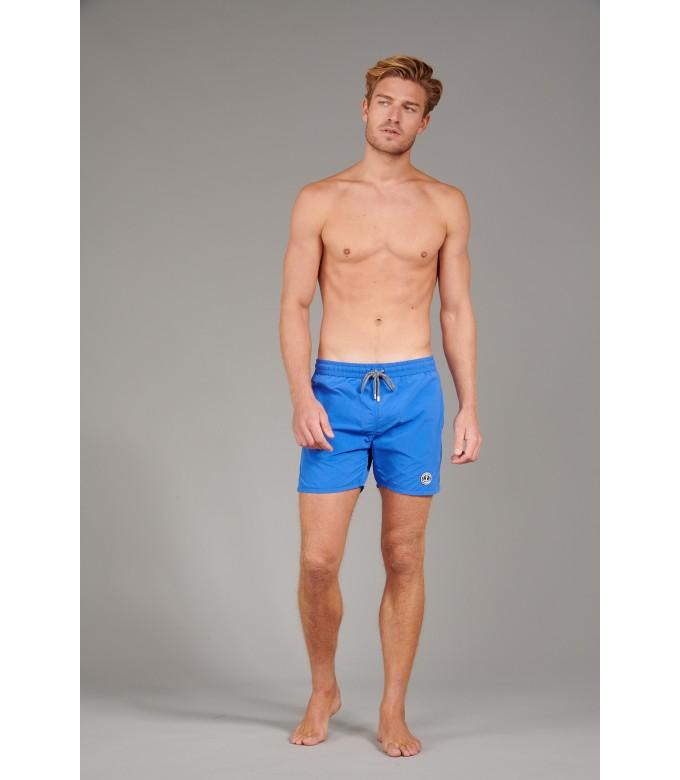 SOFT - Short de bain uni coupe ajustée, gitane