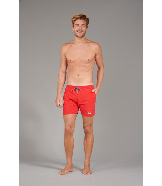 SOFT - Short de bain uni, rouge