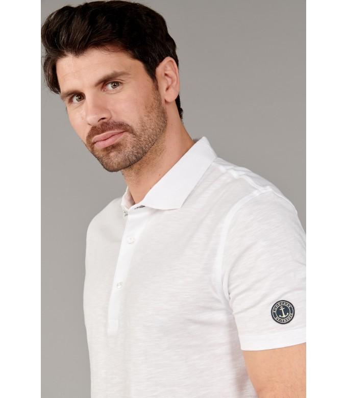 WESTON - Polo jersey en coton, blanc