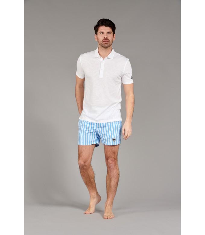 WESTON - Cotton jersey polo shirt, white