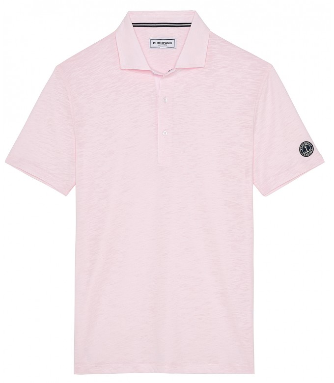 WESTON - Polo jersey en coton, rose