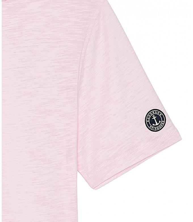 WESTON - Cotton jersey polo shirt, pink