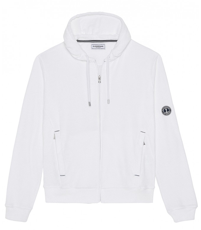 Veste capuche sacha éponge blanc