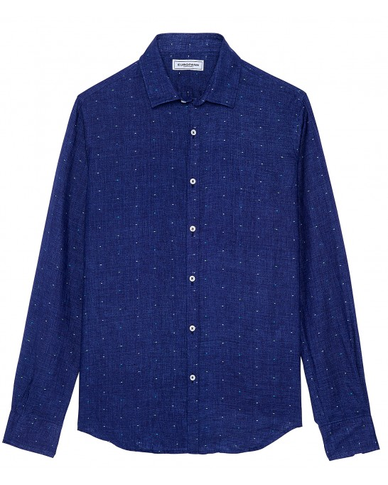 AIME - Navy blue polka dot shirt
