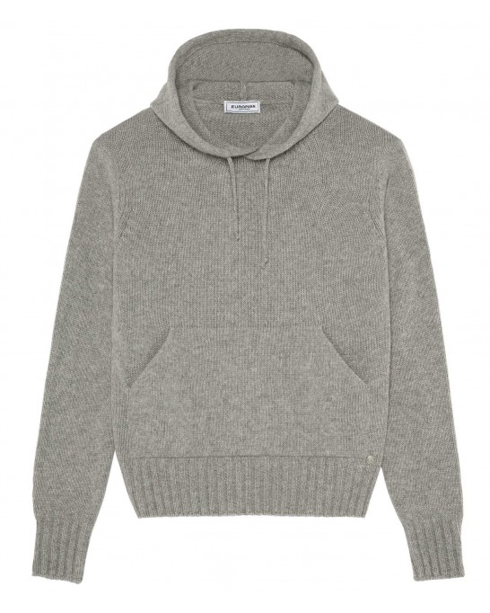 RON GREY HOODED SWEATER