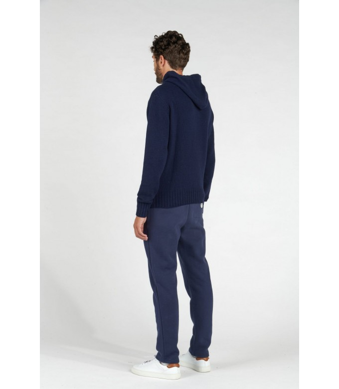 RON NAVY HOODED SWEATER